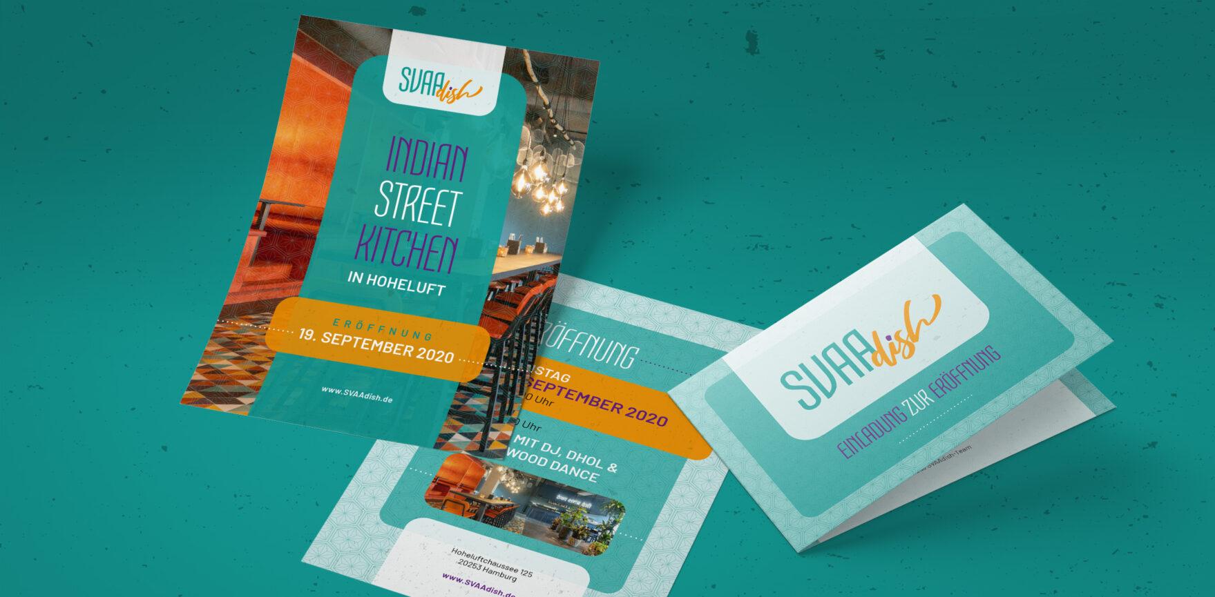 SVAAdish Print Werbemittel Eroeffnung Flyer Einladung