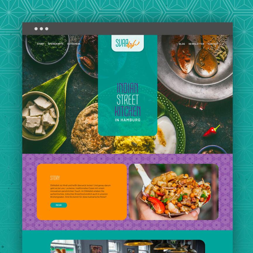 SVAAdish Branding Corporate Design Website Startseite