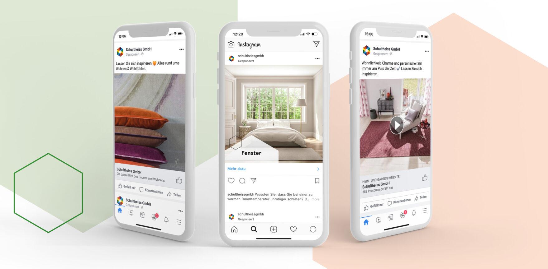 Digital Support Facebook und Instagram Beitragsvorschau mobile
