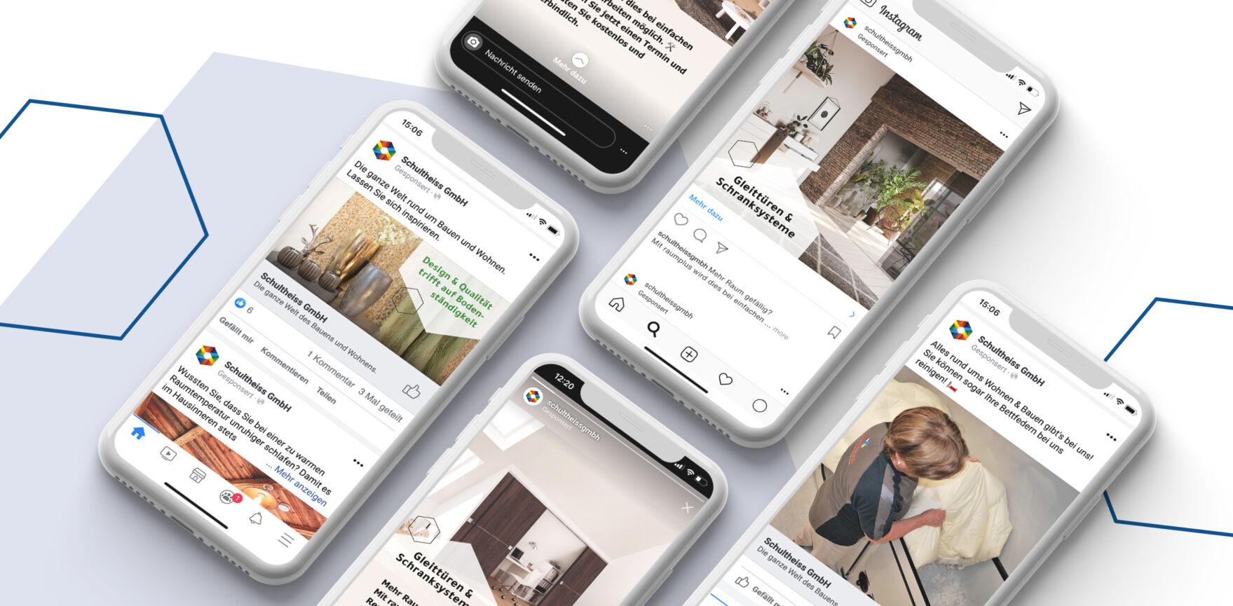 Fachbauzentrum Schultheiss Digital Support Paid Ads auf Facebook und Instagram