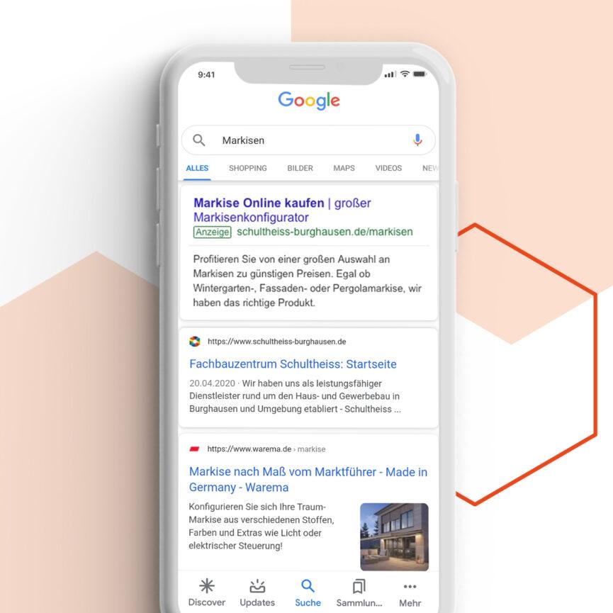 Fachbauzentrum Schultheiss Digital Support Google Suchnetzwerkanzeigen