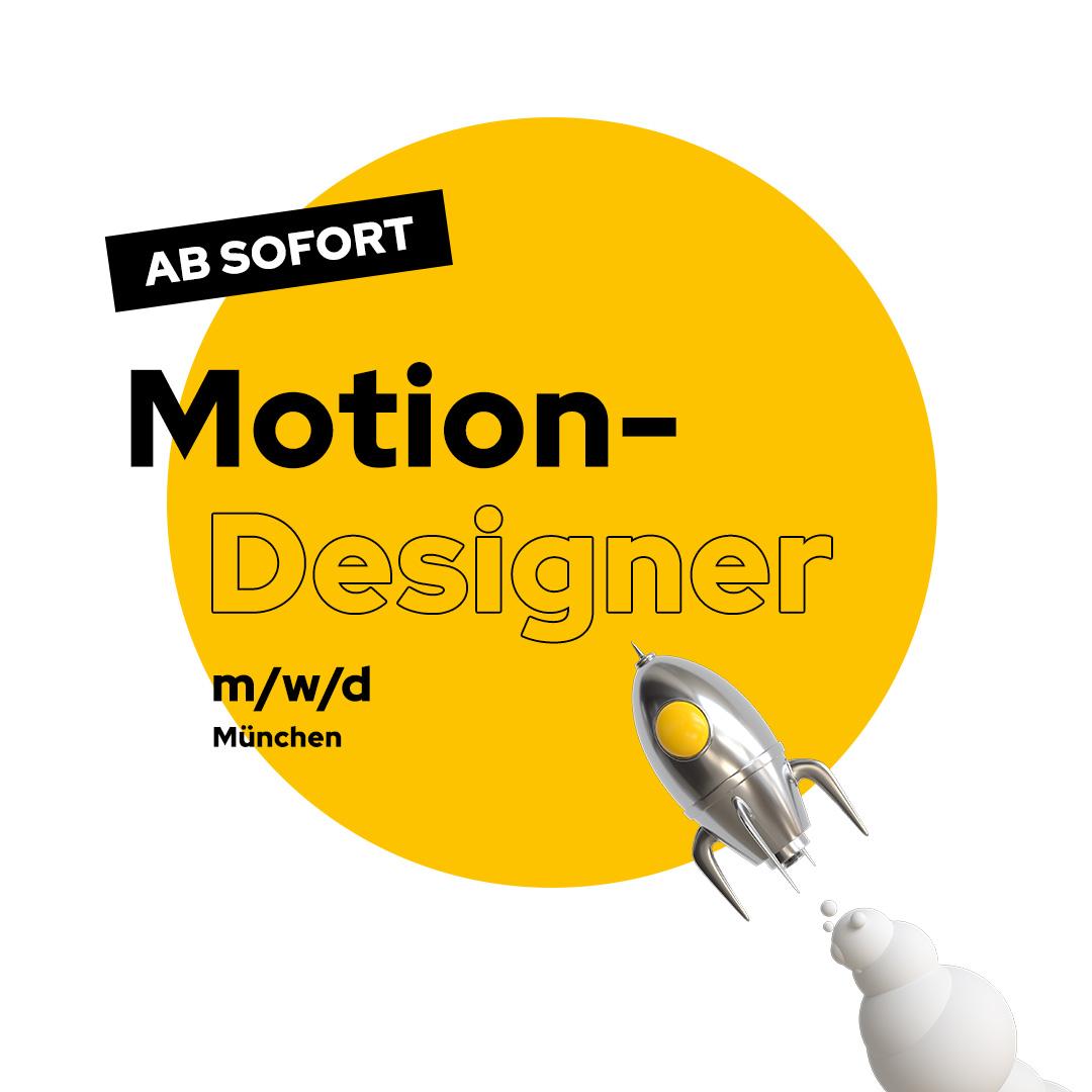 Motion Designer Stellenanzeige