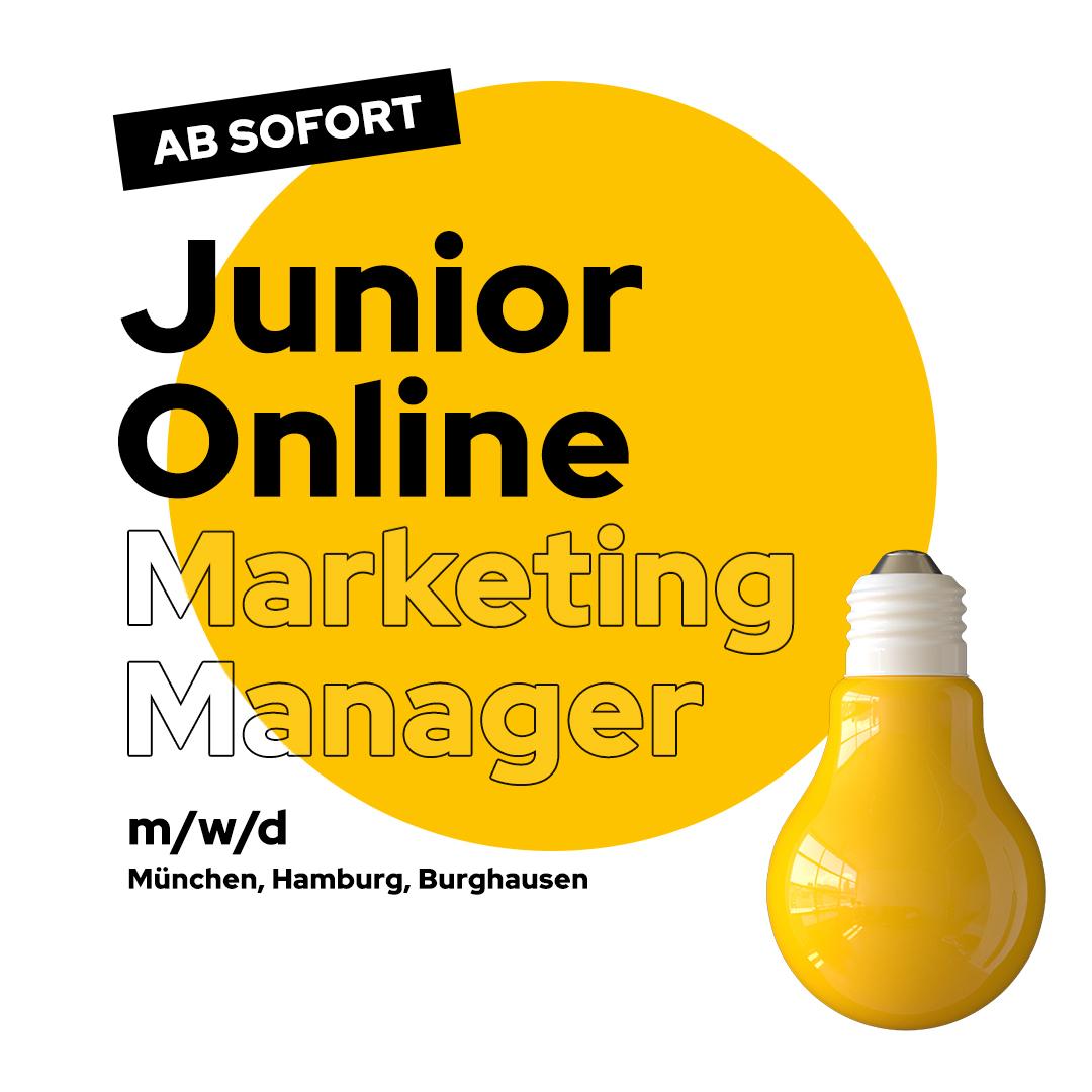 Stellenanzeige Junior Online Marketing Manager