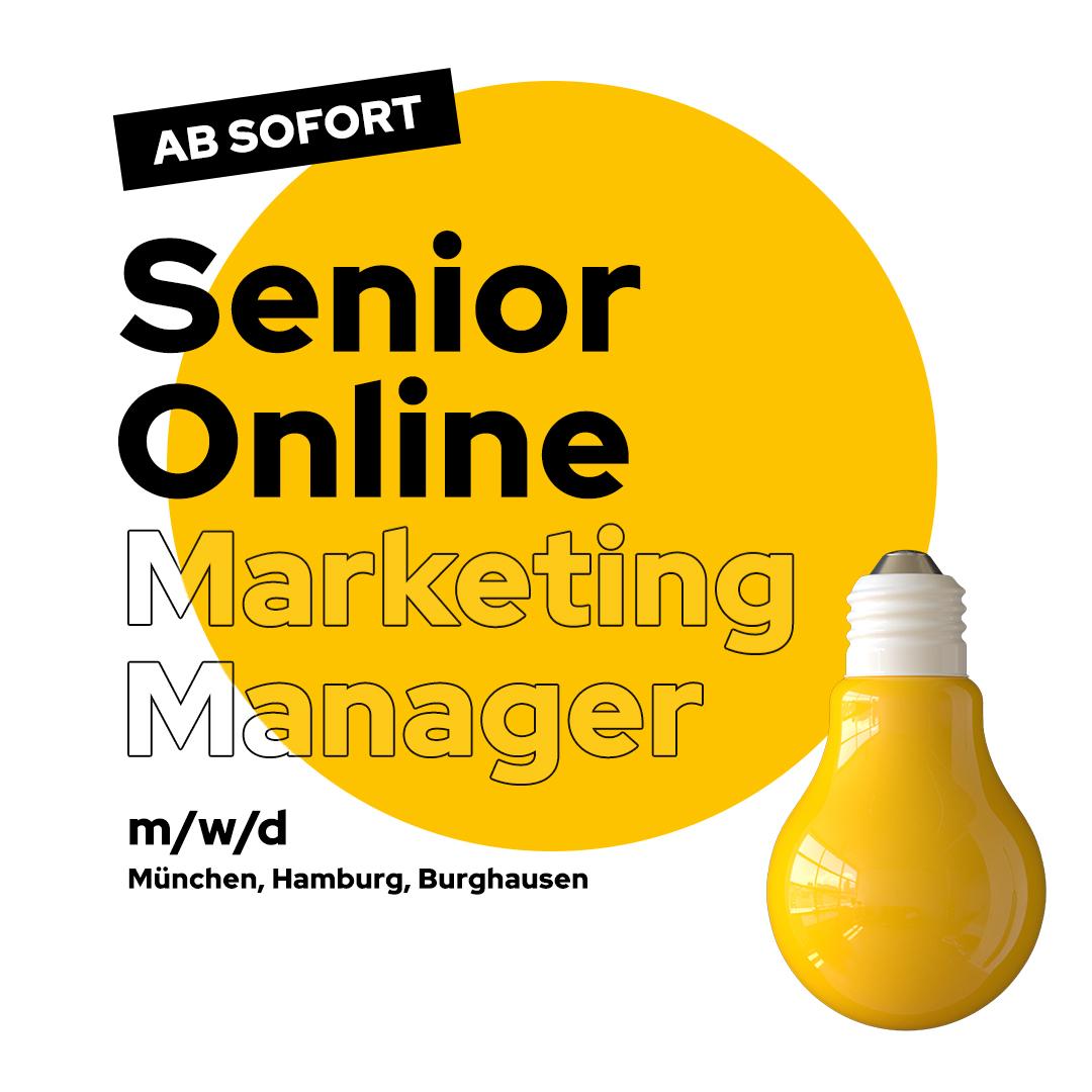 Stellenanzeige Senior Online Marketing Manager