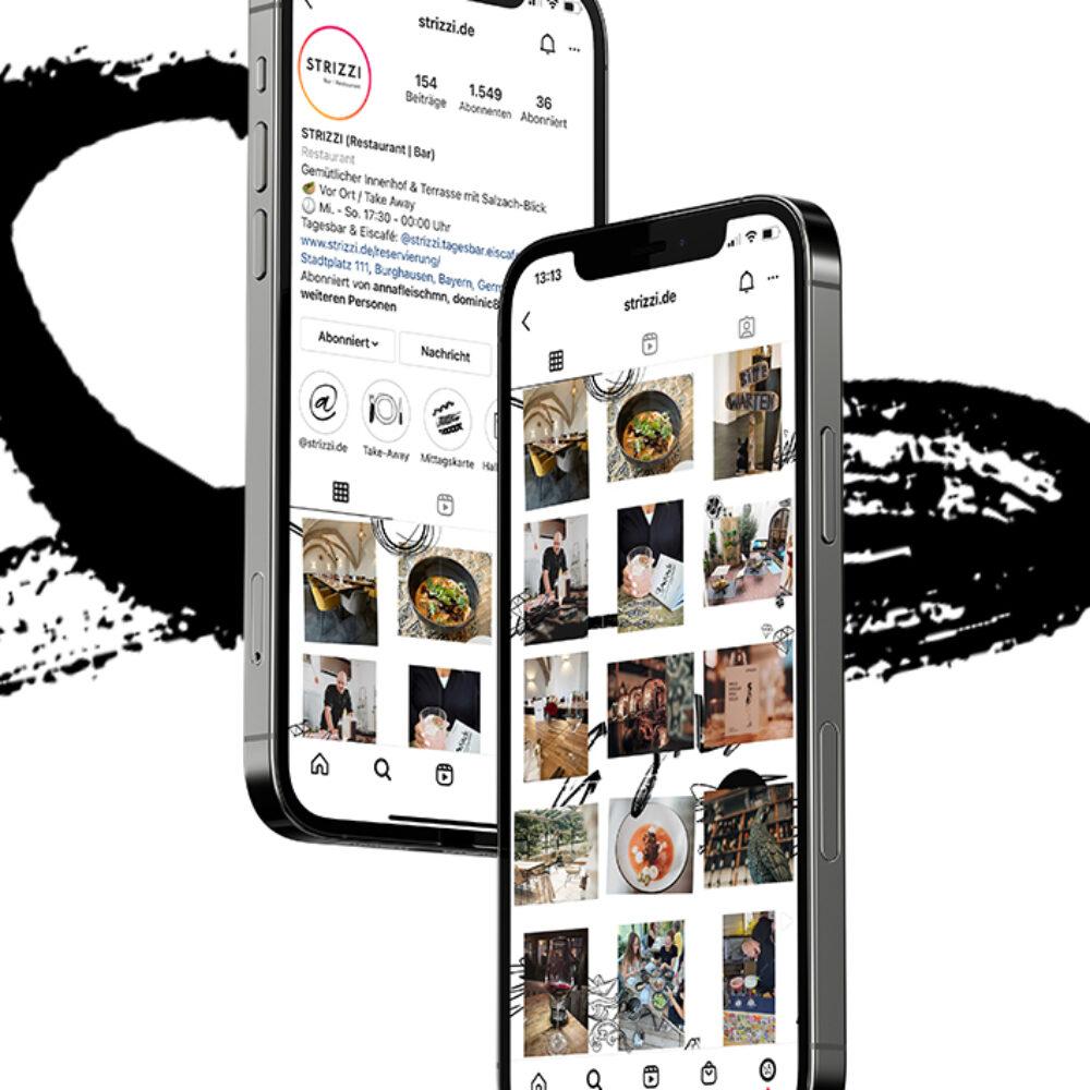 STRIZZI Social Media Support Instagram MockUp in iPhone