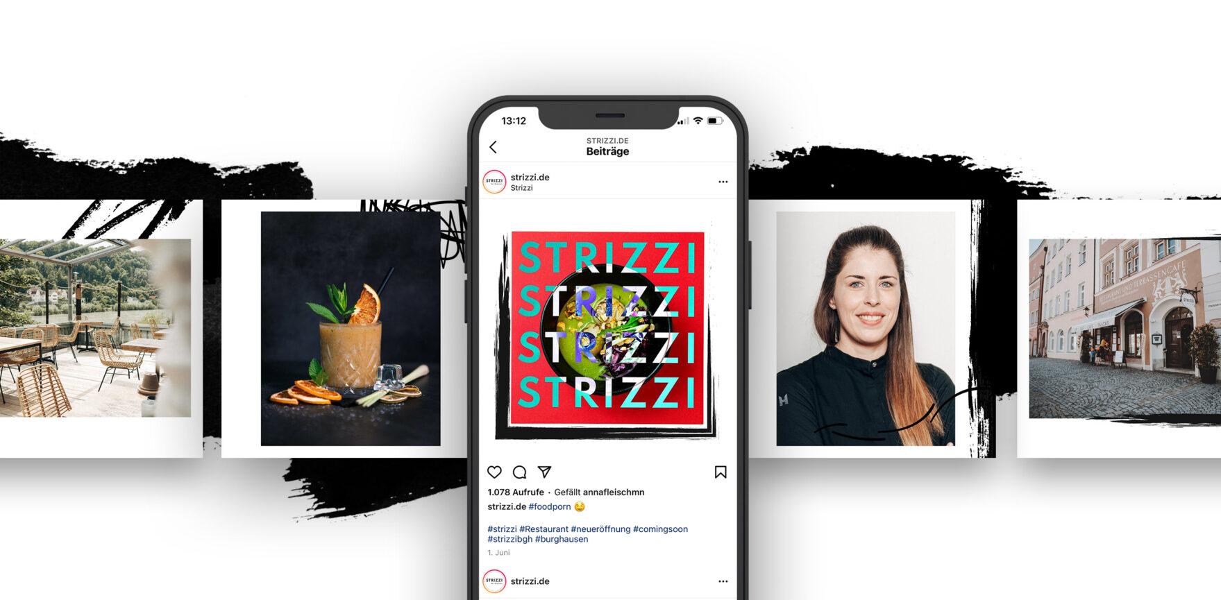 Social Media Support Paid Post Vorschau Instagram STRIZZI Restaurant Bar
