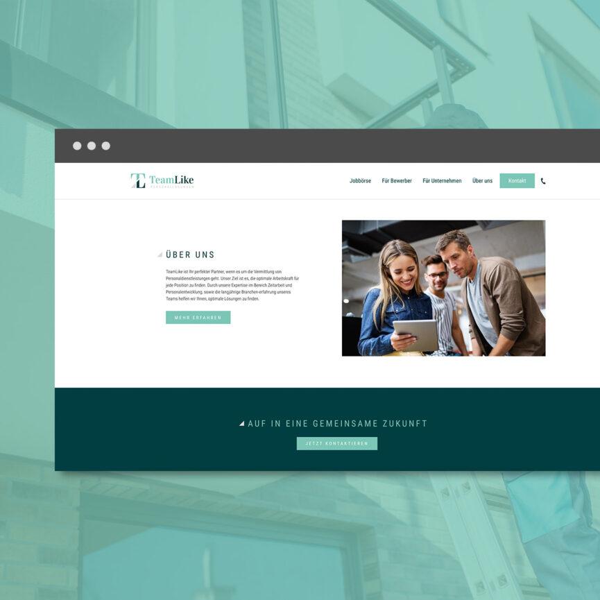 TeamLike Personalloesungen WordPress Website Ueber Uns Unterseite