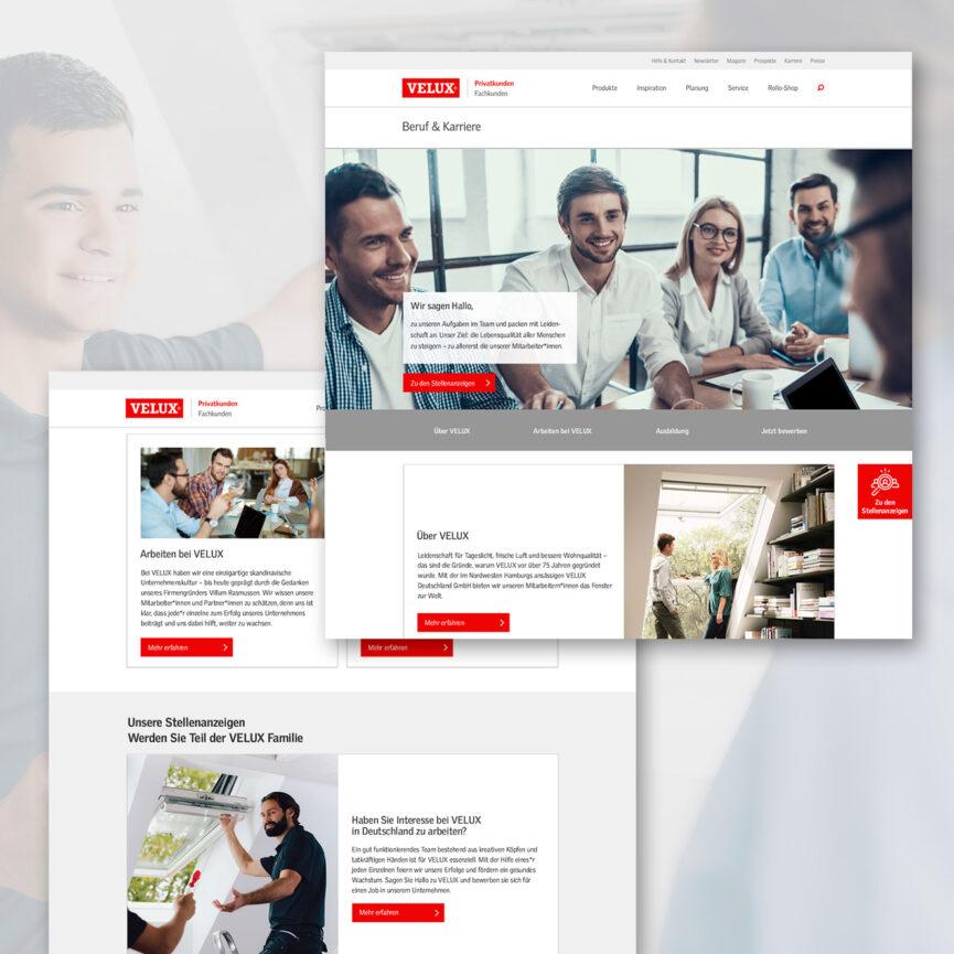 Webdesign VELUX Karriere