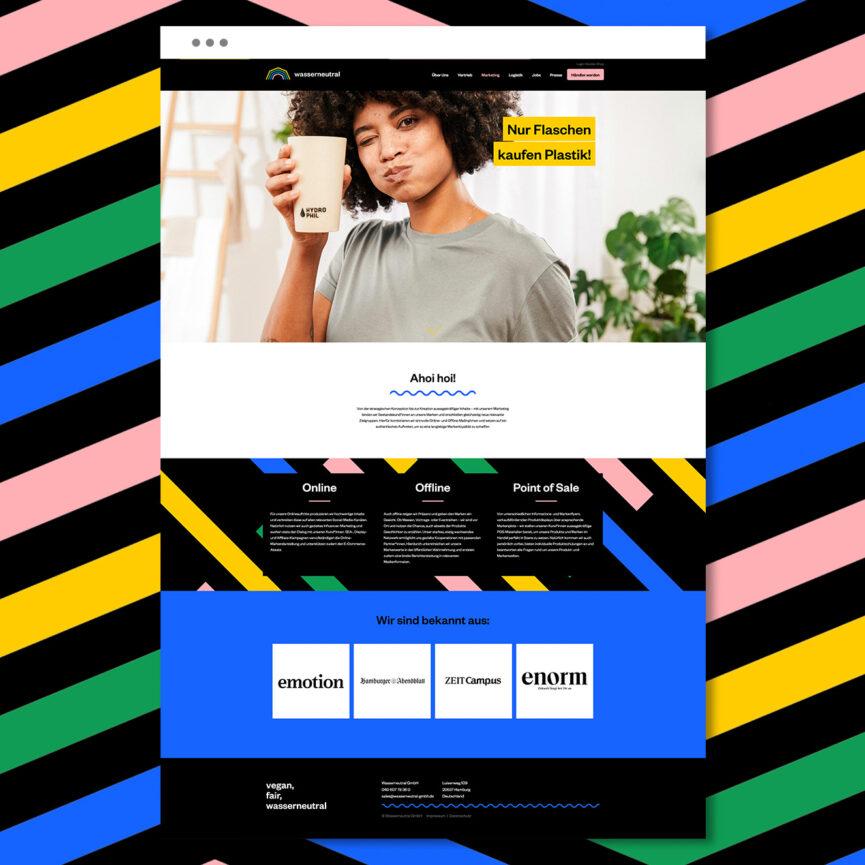 Wasserneutral Programmierung Website Relaunch Startseite