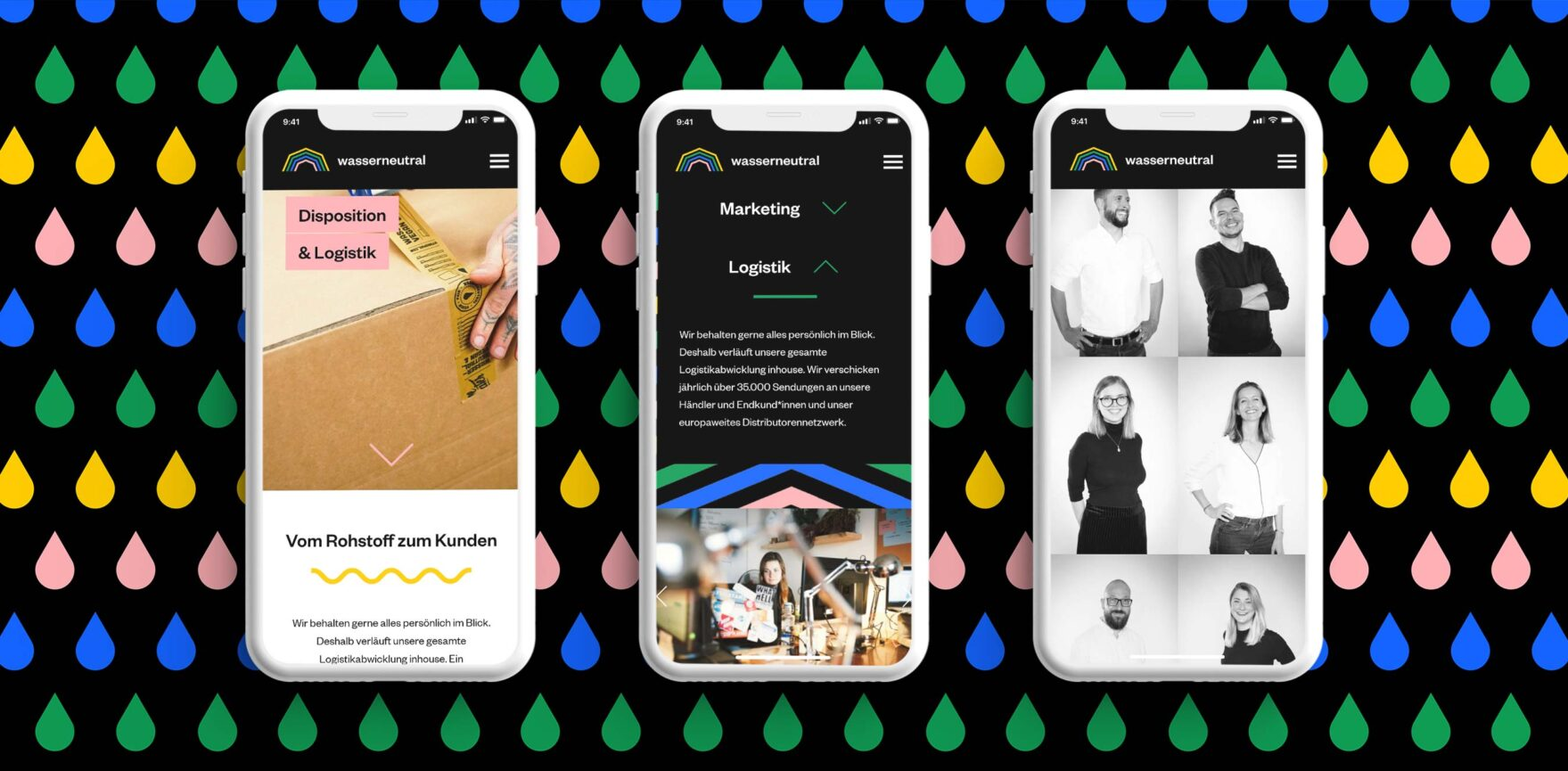 Wasserneutral Programmierung Website Relaunch Mobile Ansicht Responsive
