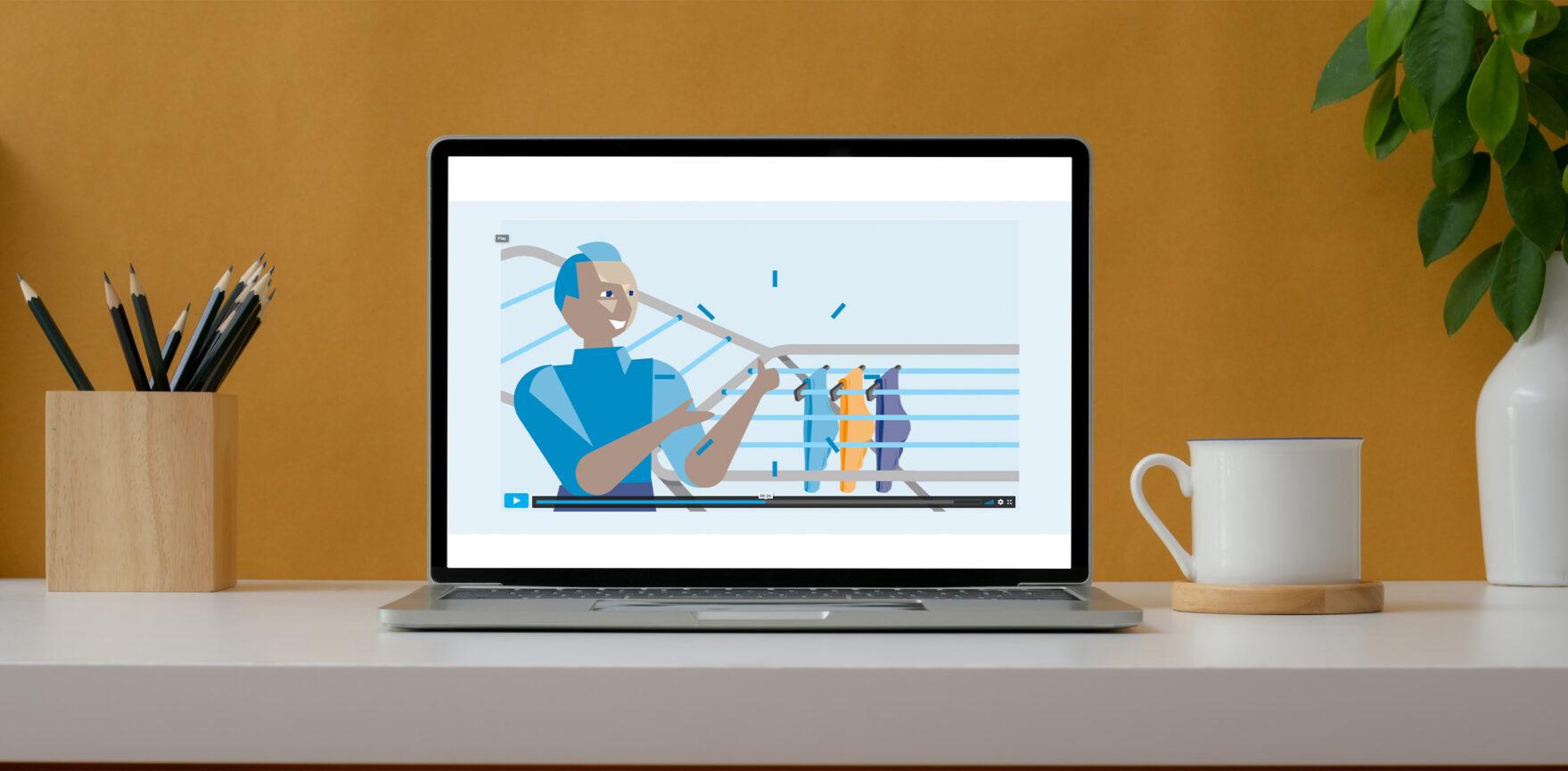 Leinen-Lotte 2D-Erklärvideo Video Fullscreen Englische Version