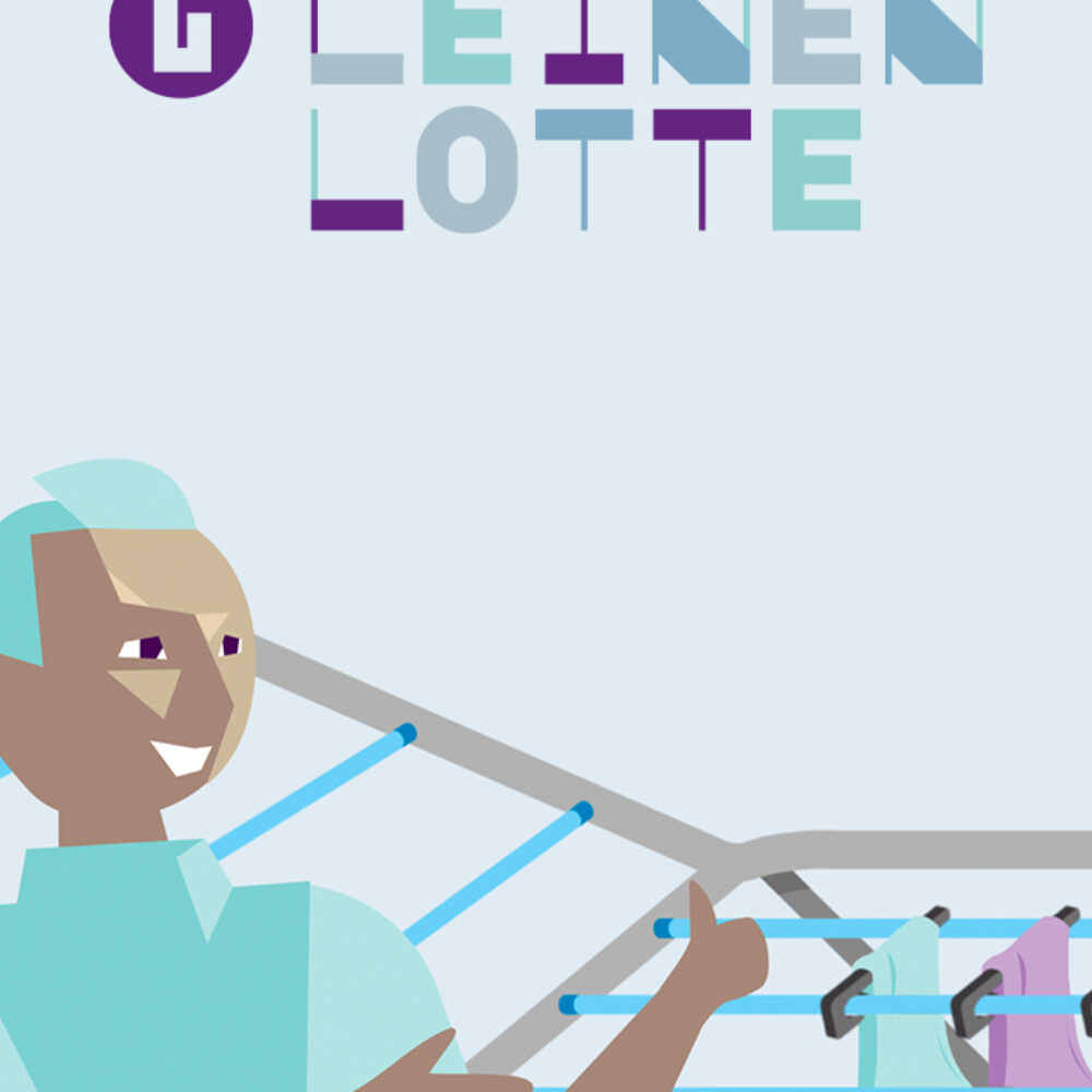 Leinen-Lotte 2D-Erklärvideo Still mit Logo