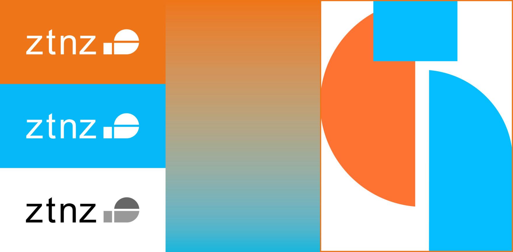 ZTNZ Wort-Bildmarke Farben und Formensprache