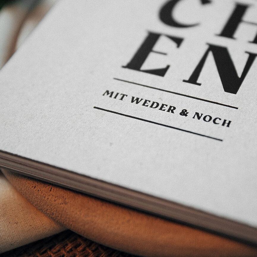 Weder & Noch Kochbuch Closeup Details