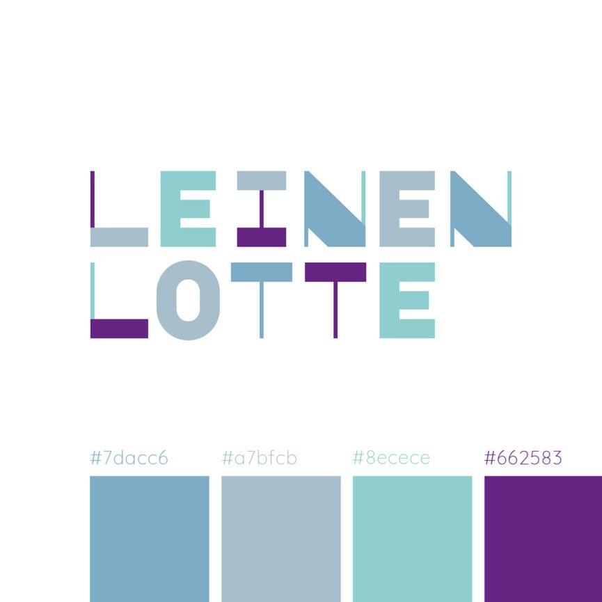Leinen-Lotte Naming und Corporate Design Entwicklung Farben