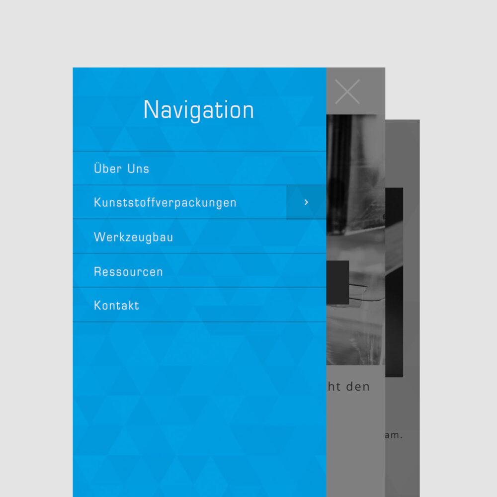 Referenz Webseite plastpack iPhone Darstellung
