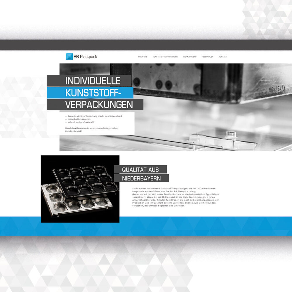 BB Plastpack Website Startseite