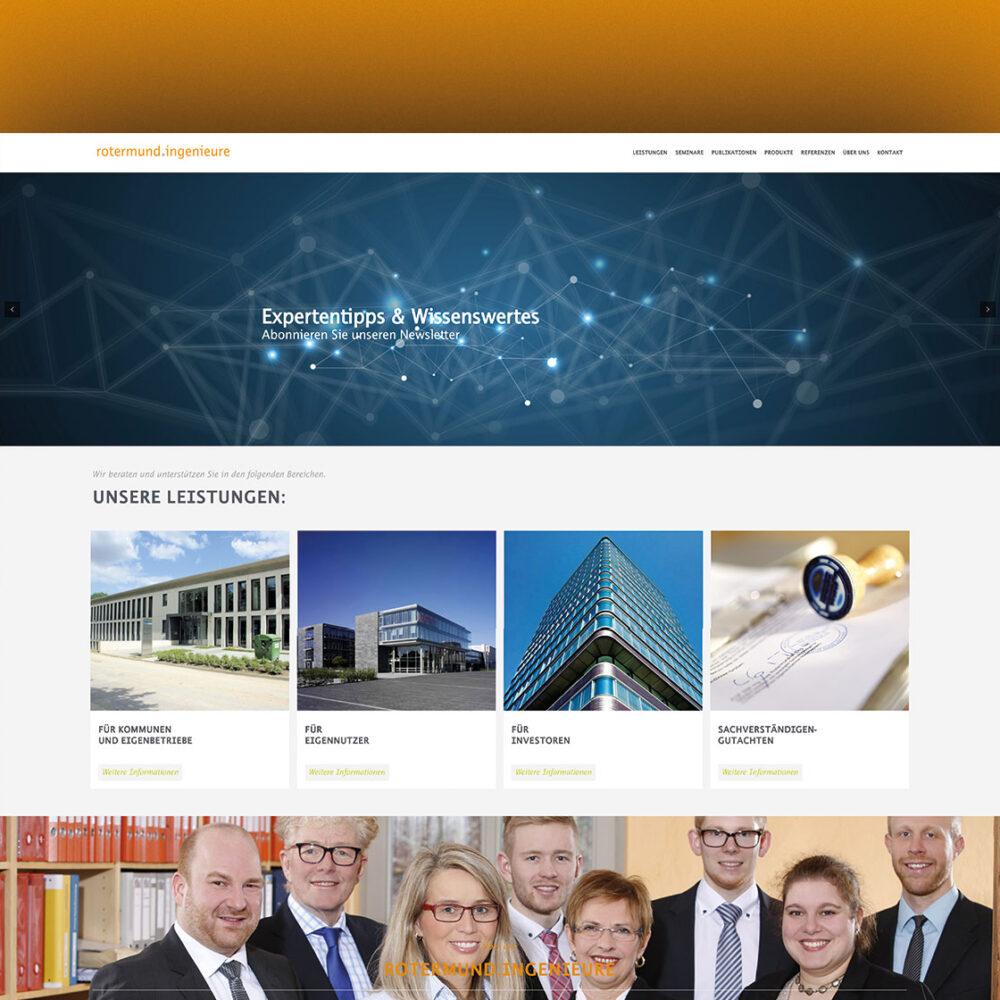 Startseite Webdesign