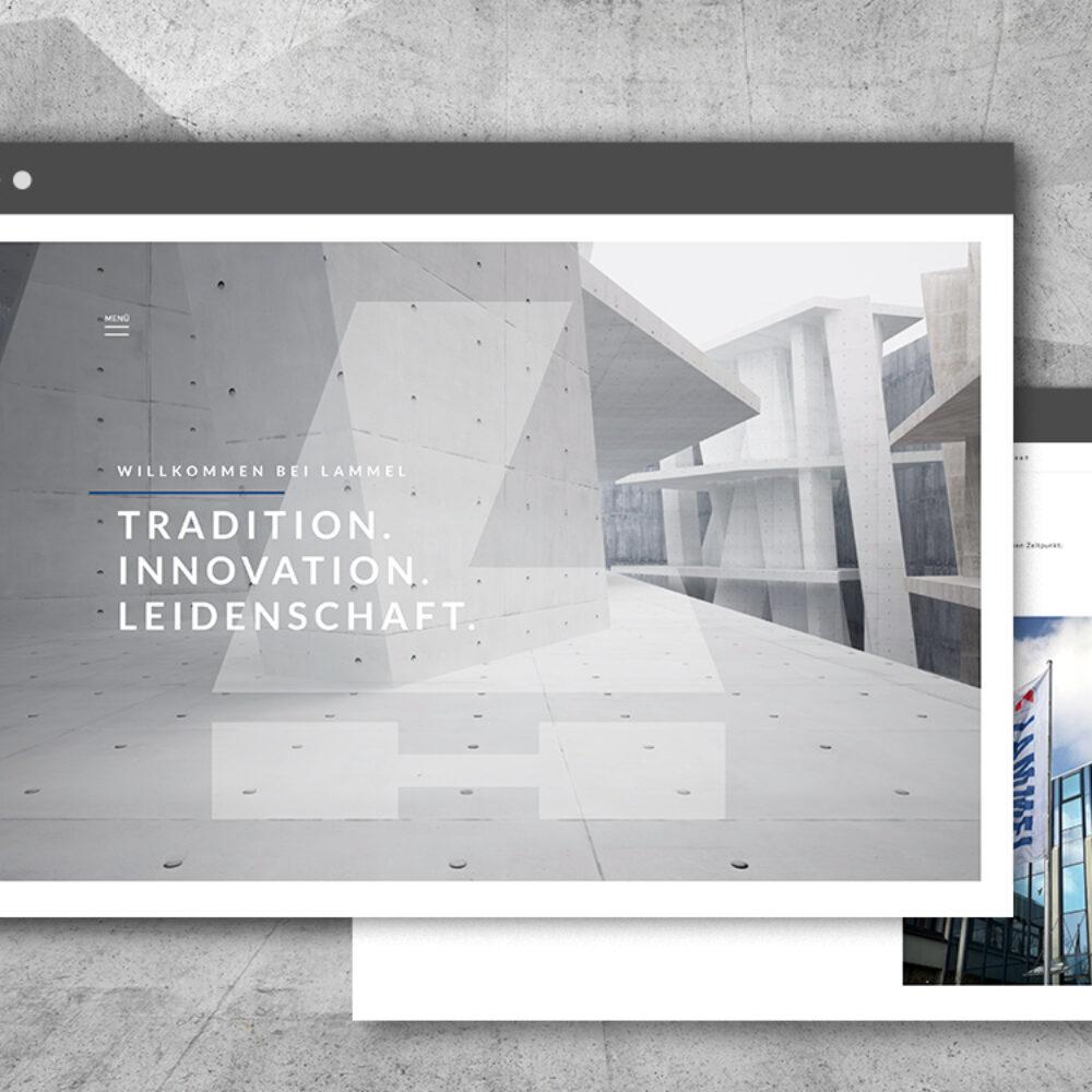 Lammel Bau Website