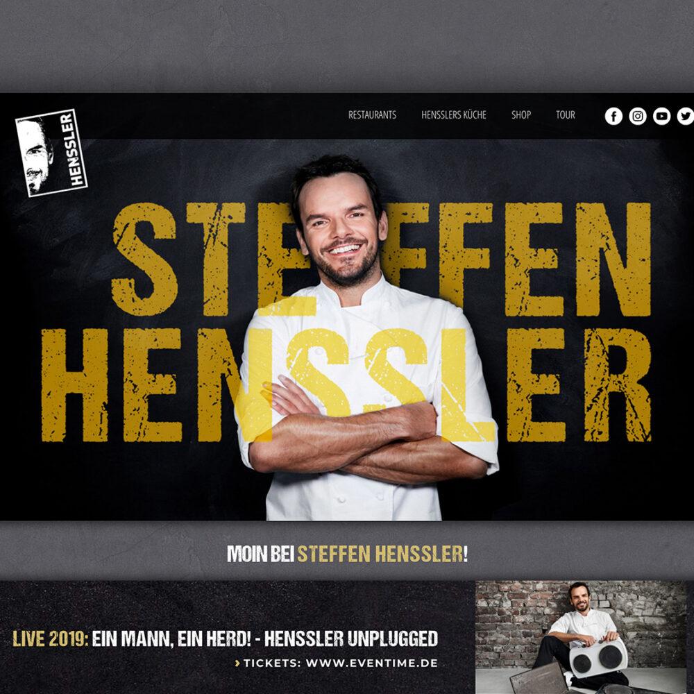 Header Steffen Henssler Website mit Foto