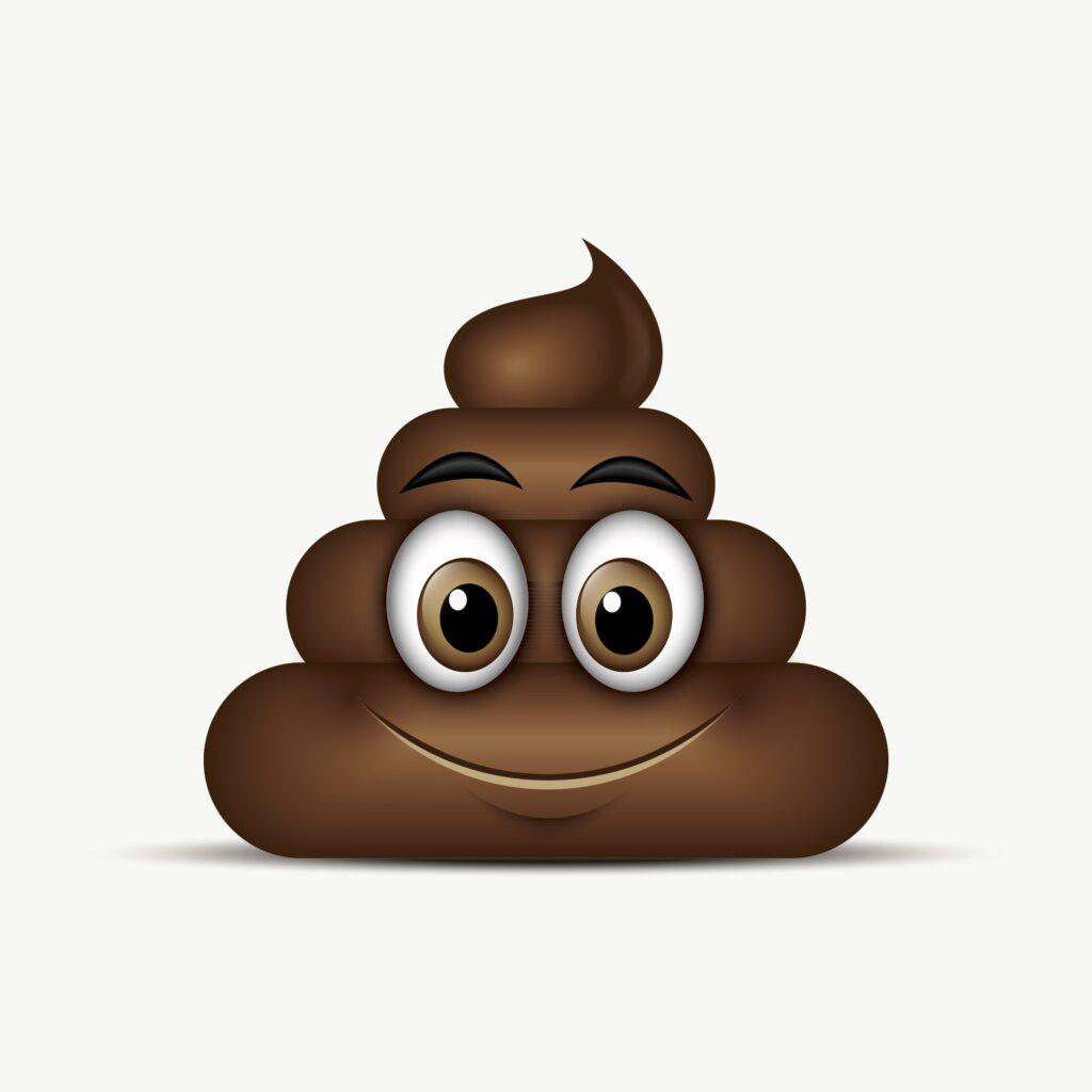 Kackhaufen als Emoji, das la%CC%88chelt