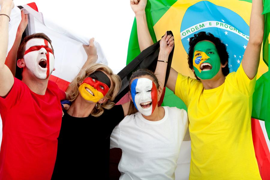 Jubelnde WM Fans