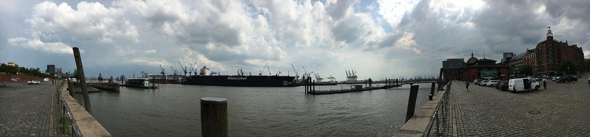 Hafengeschichten Hamburg Panorama Hafen