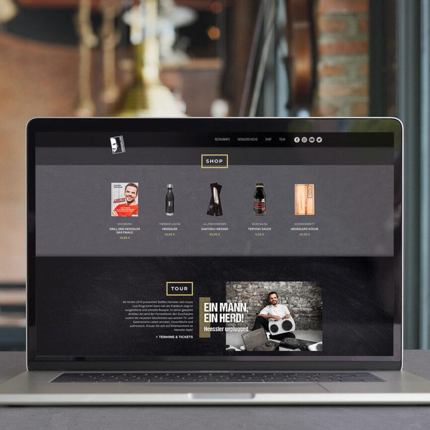 Steffen Henssler Website Shop-Verlinkung und Tour-Daten