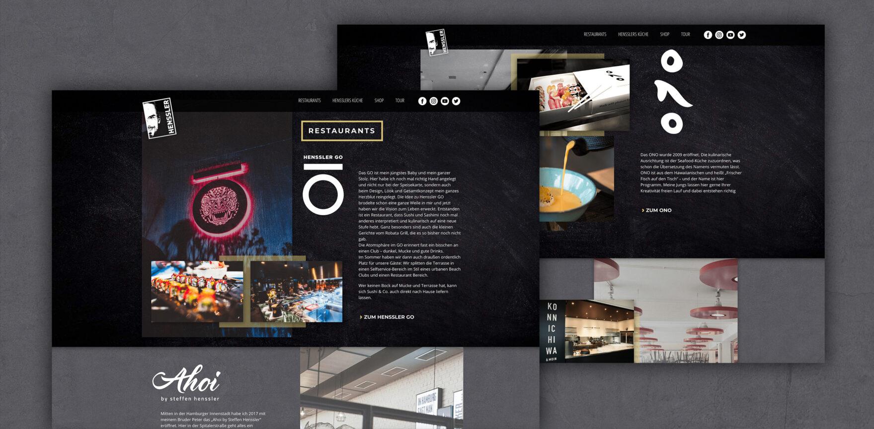 Restaurant-Uebersicht Steffen Henssler Website