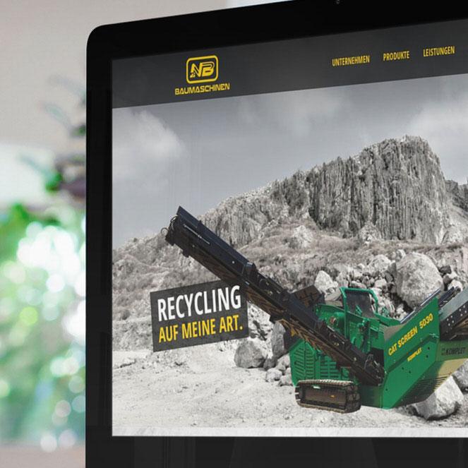 nb baumschinen website relaunch redesign