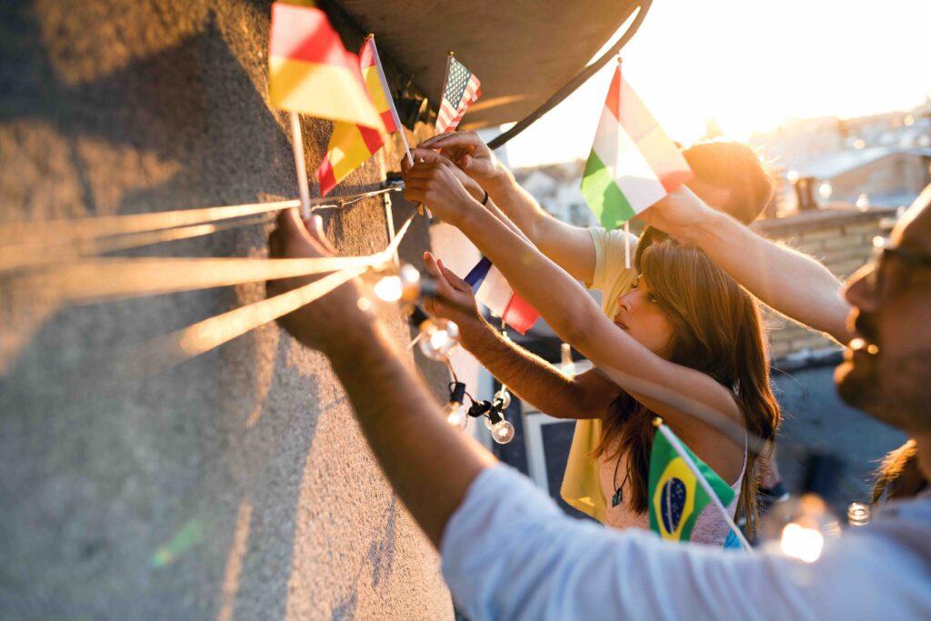 Corona-Krise: Freunde aus verschiedenen Kulturen