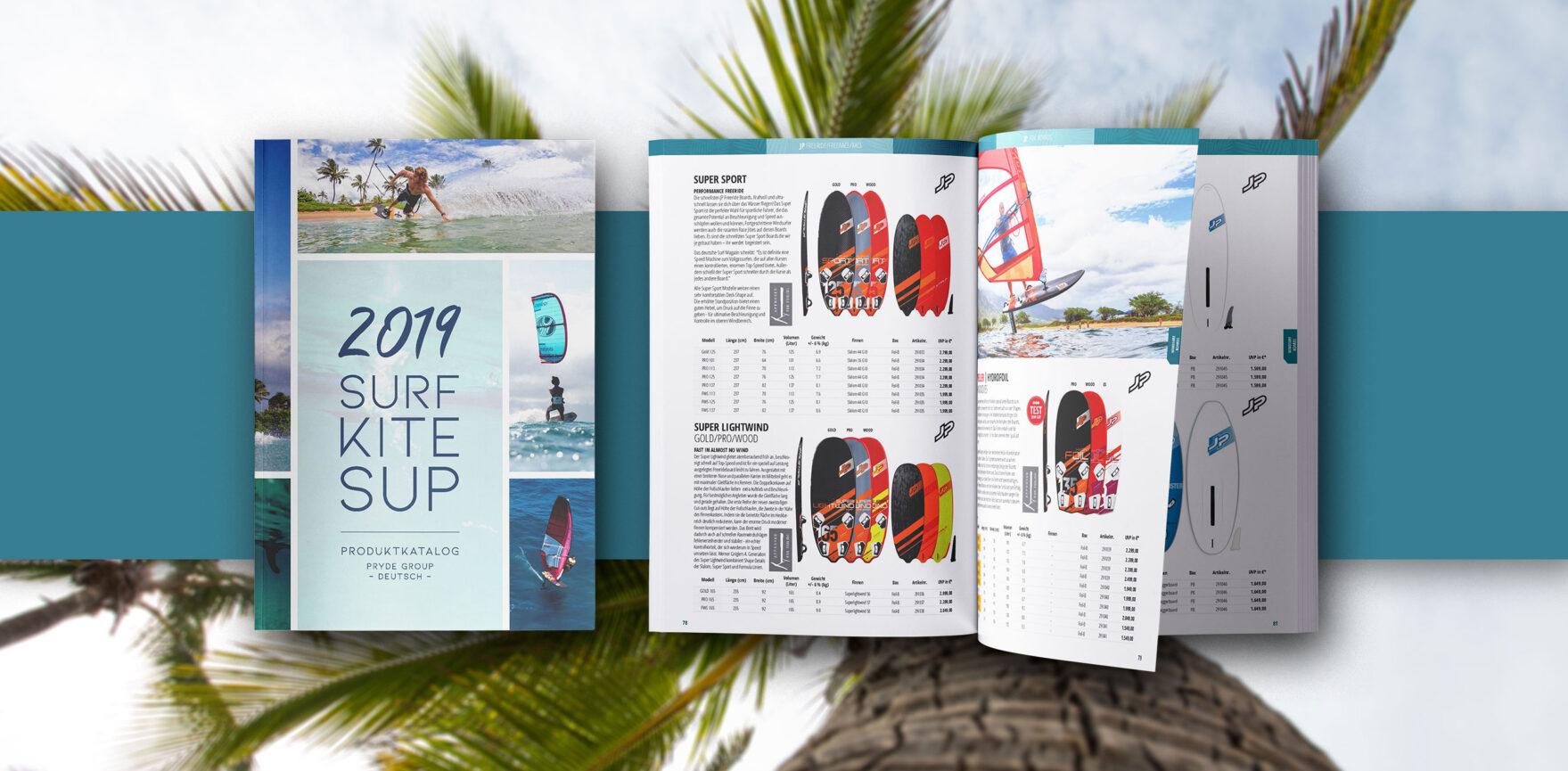 Surf Katalog Gestaltung