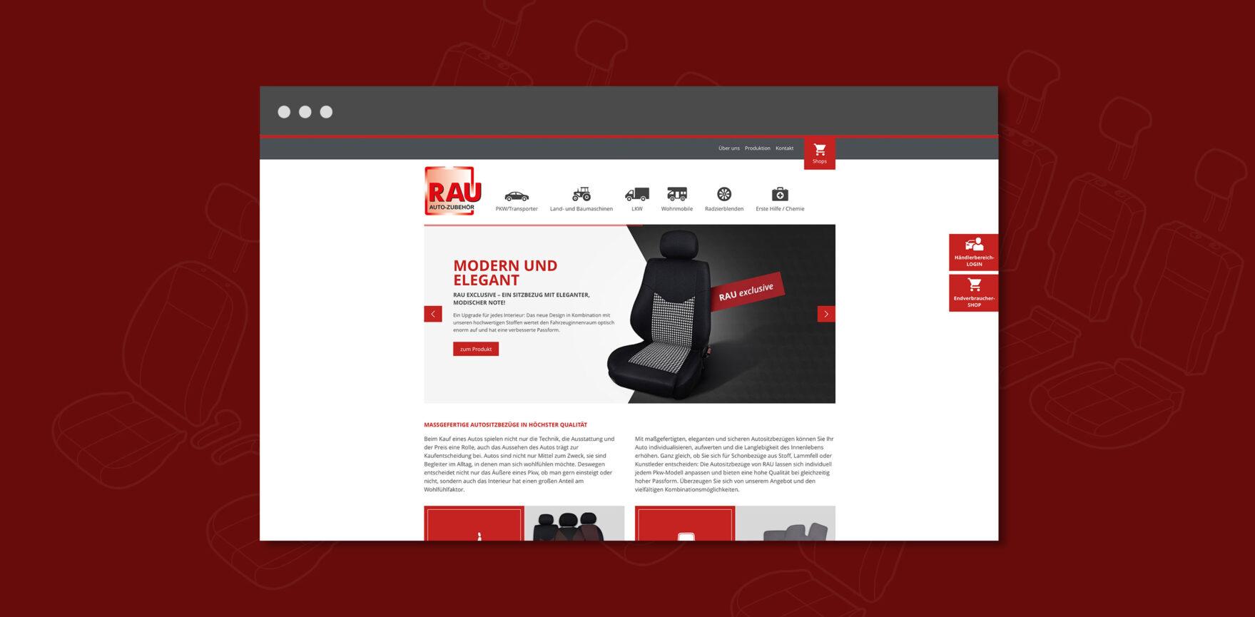 Referenz Webseite Autositzbezuege Rau