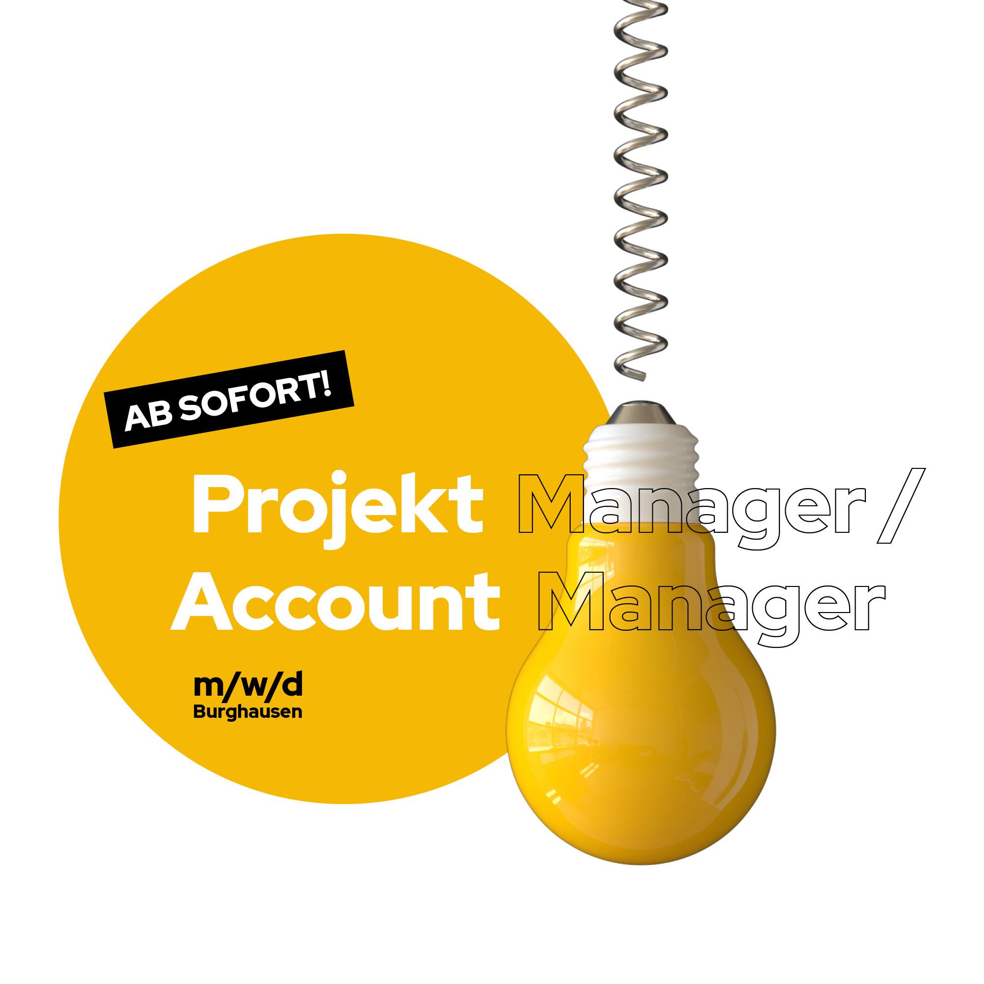 Stellenanzeige Projekt Manager und Account Manager