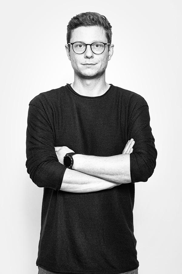 Schwarz Weiß Portrait Thomas Stadler