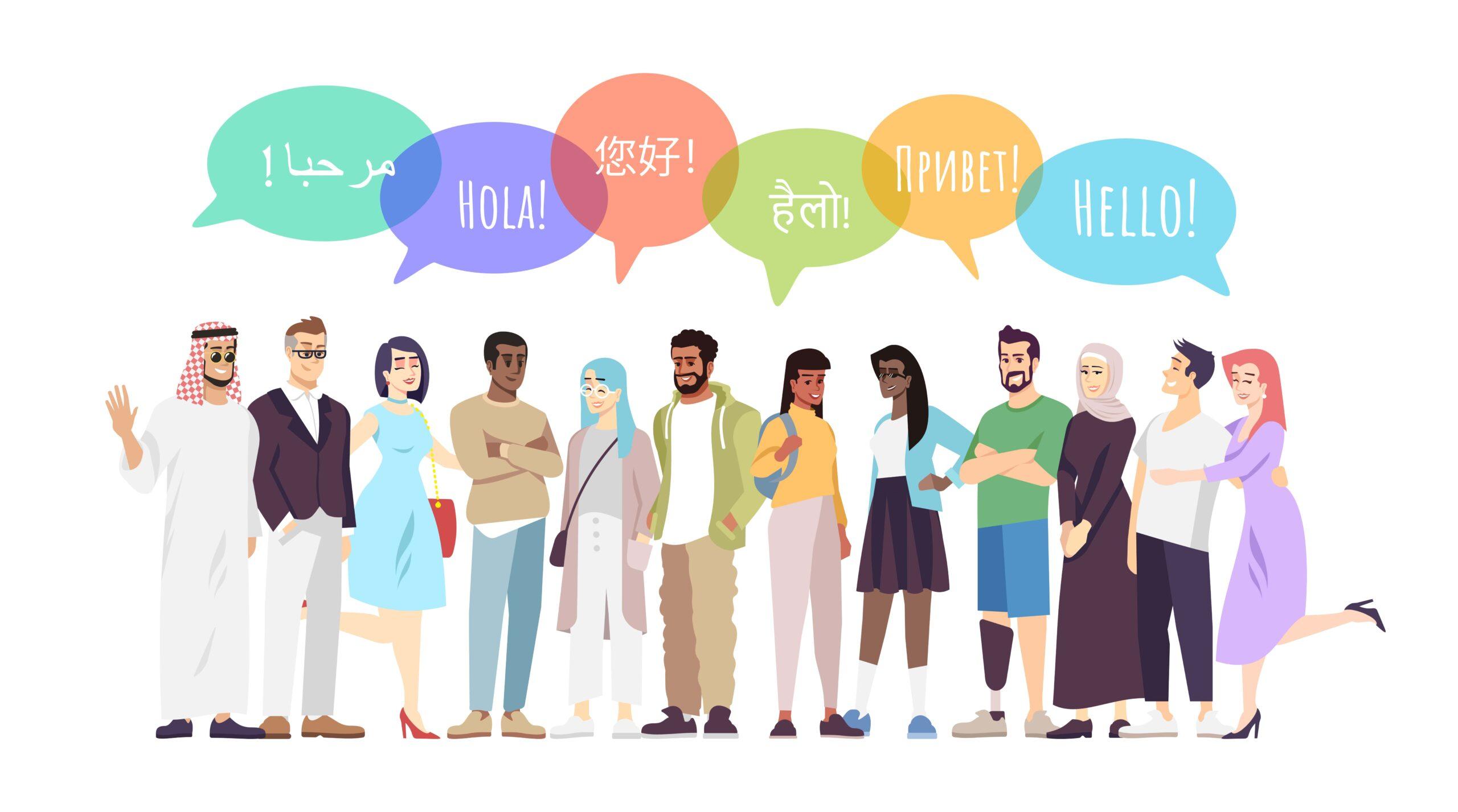 Menschen verschiedener Kulturen kommunizieren