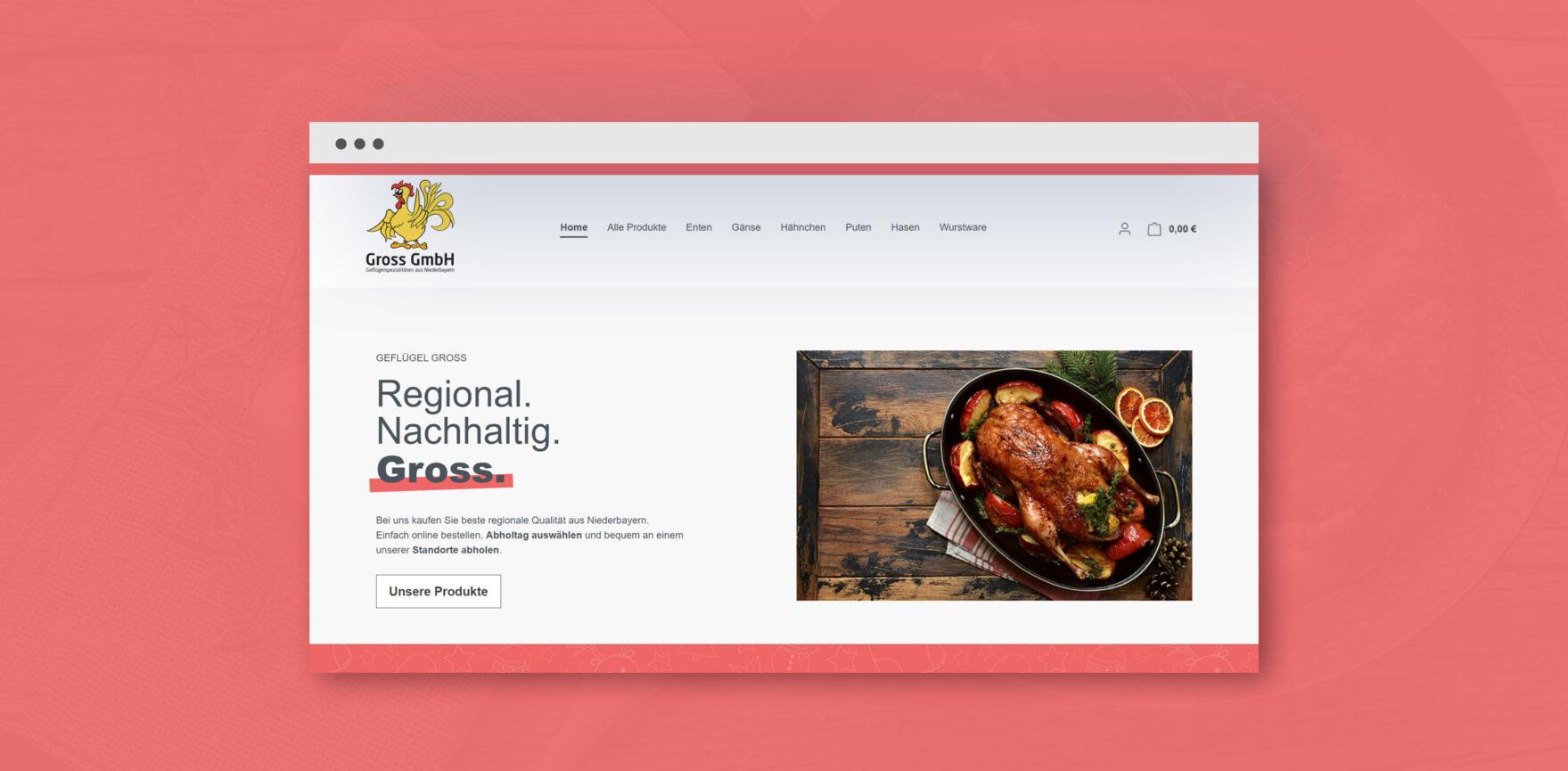 Geflügel Gross Shopware Online Shop Startseite