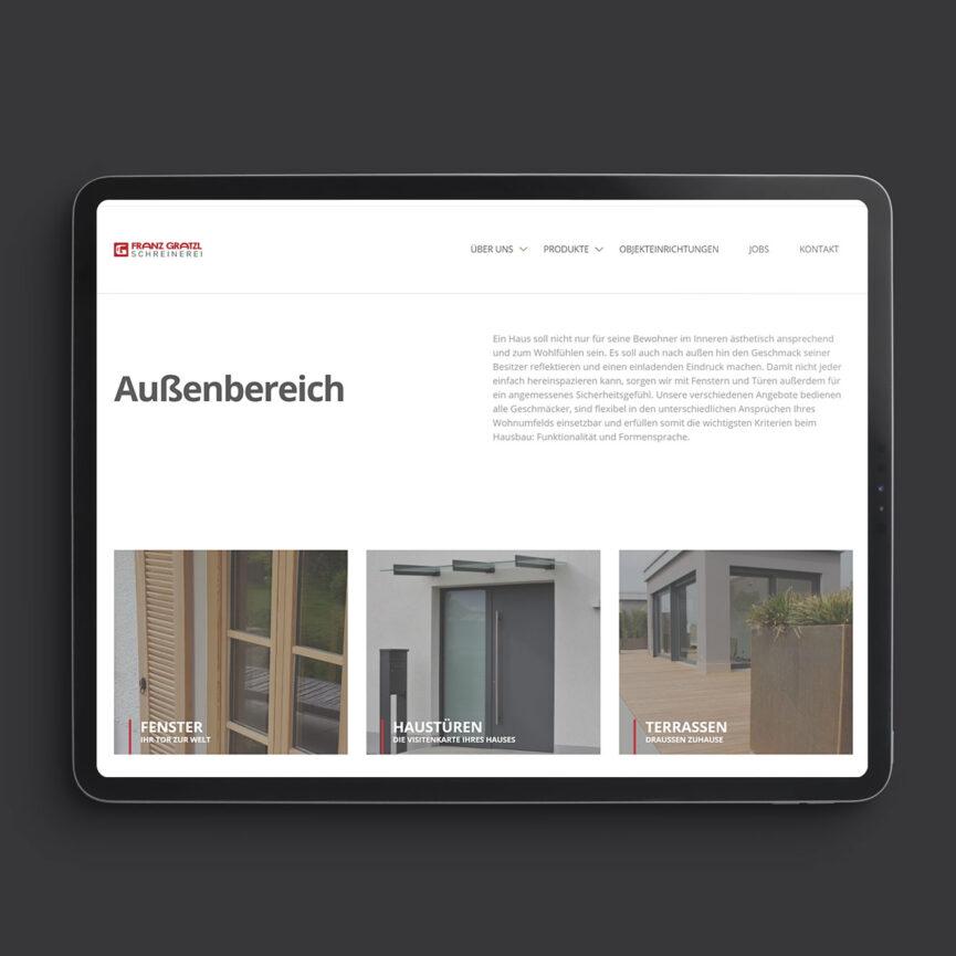 Startseite Franz Gratzl Ipad Version