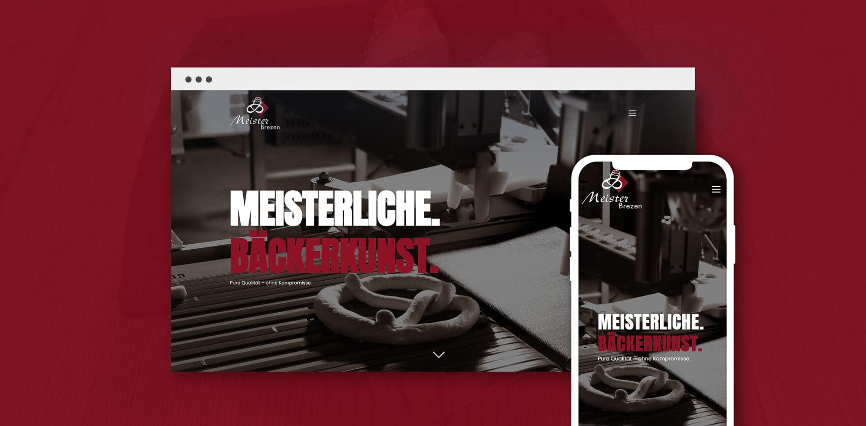 Meisterbrezen Website Relaunch Startseite Desktop und mobil