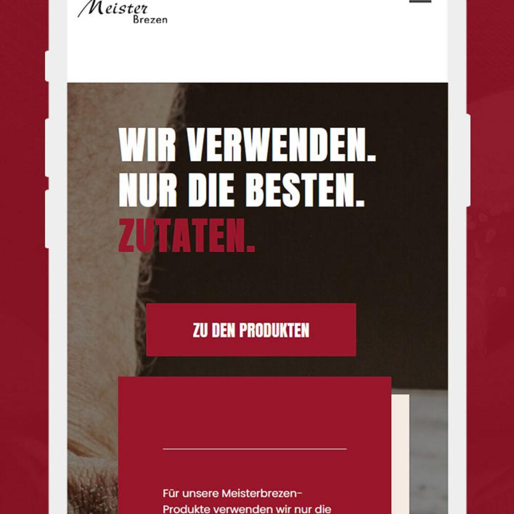Meisterbrezen Website Relaunch iPhone Startseite