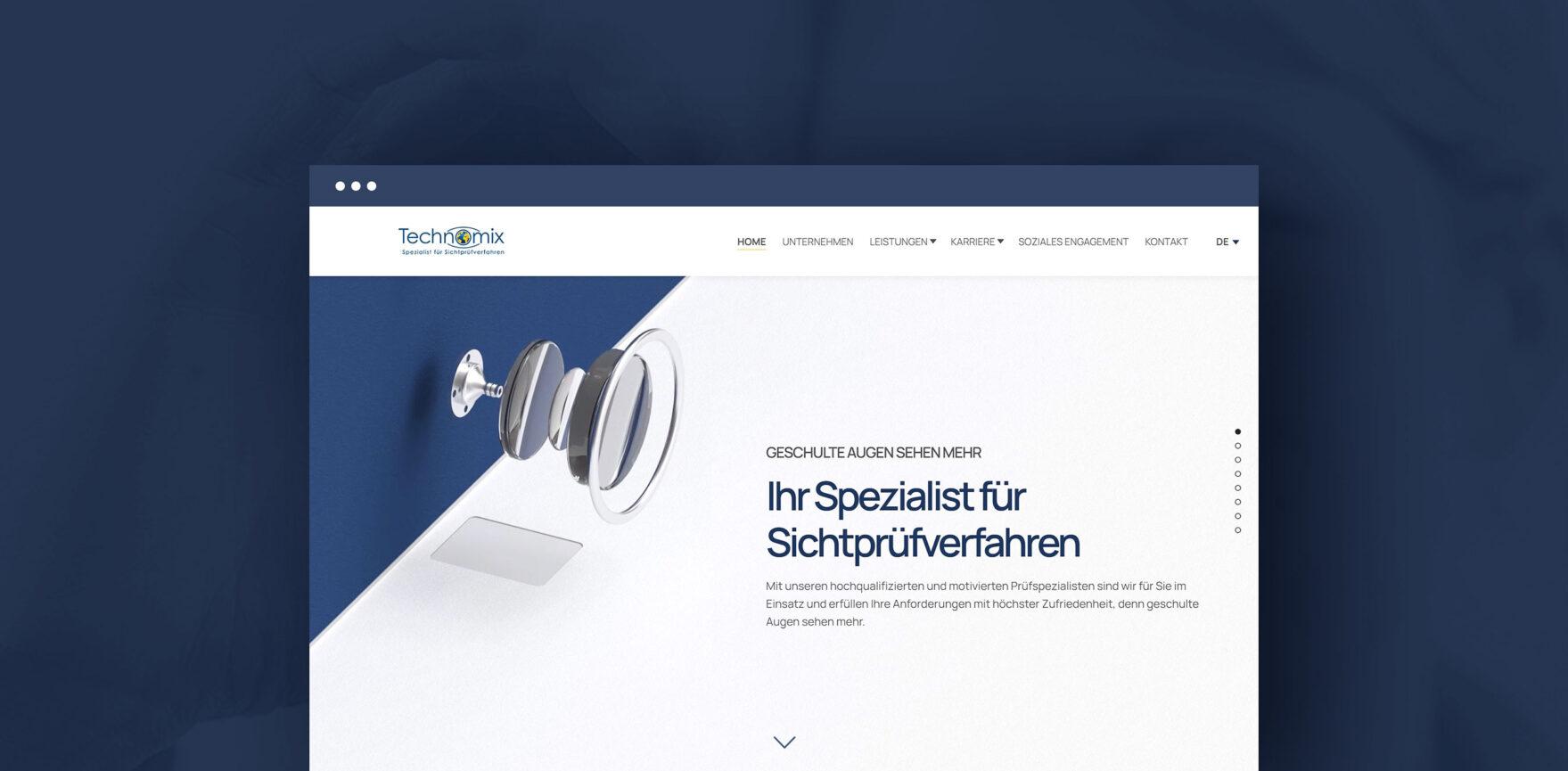 Website Relaunch Technomix AG Startseite Desktop