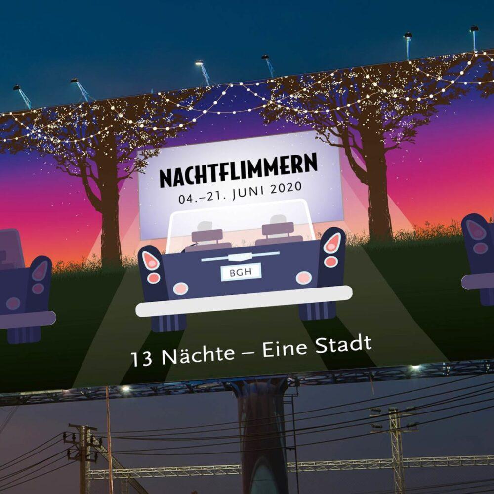Key Visual Autokino Burghausen Nachtflimmern