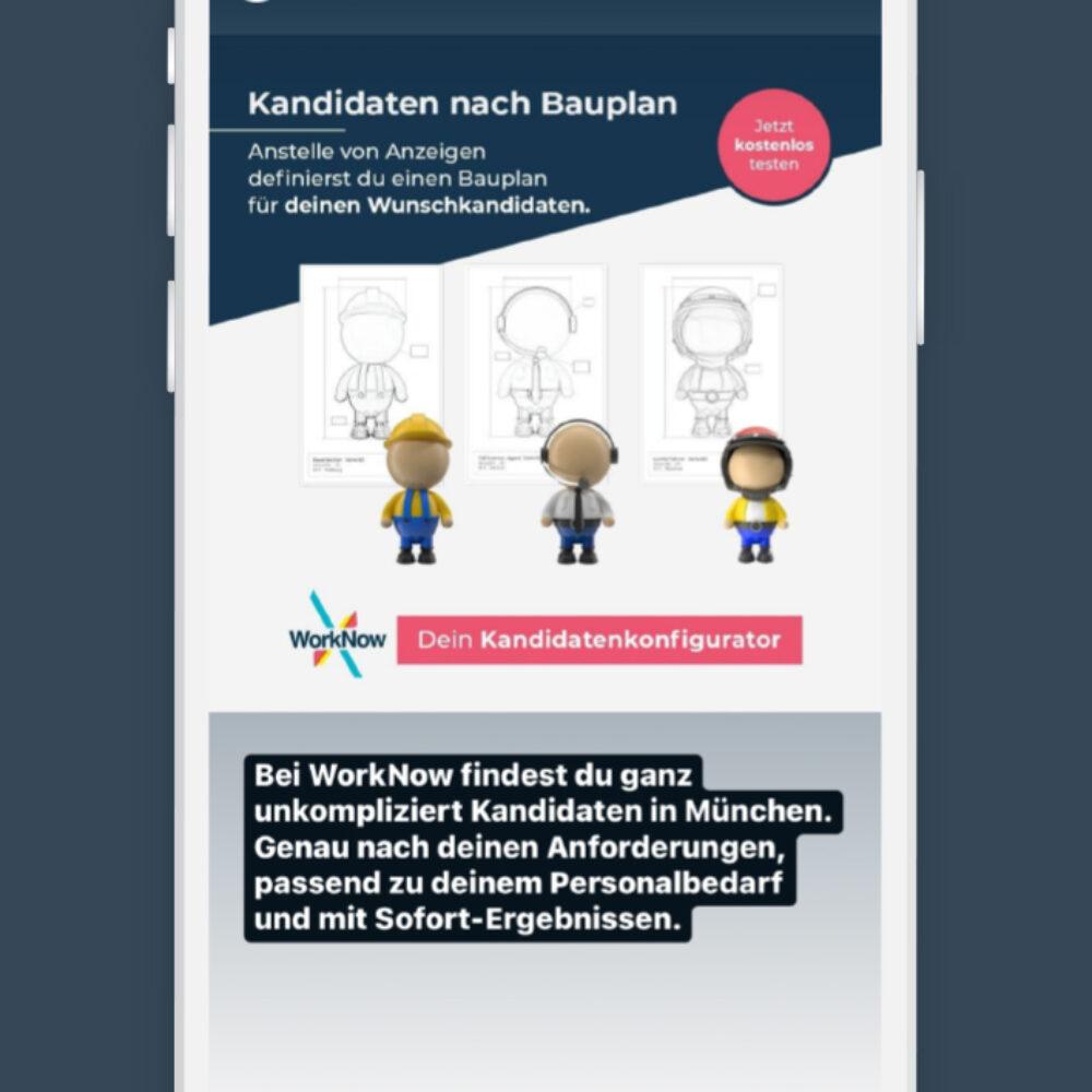 WorkNow Online Marketing Instagram Anzeige
