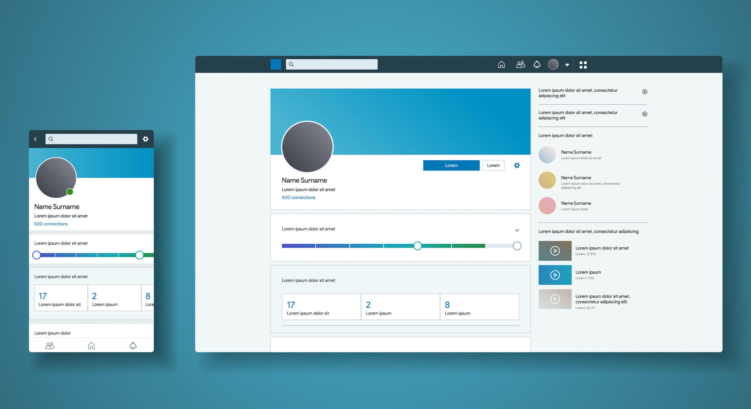 Leere LinkedIn Unternehmensseite