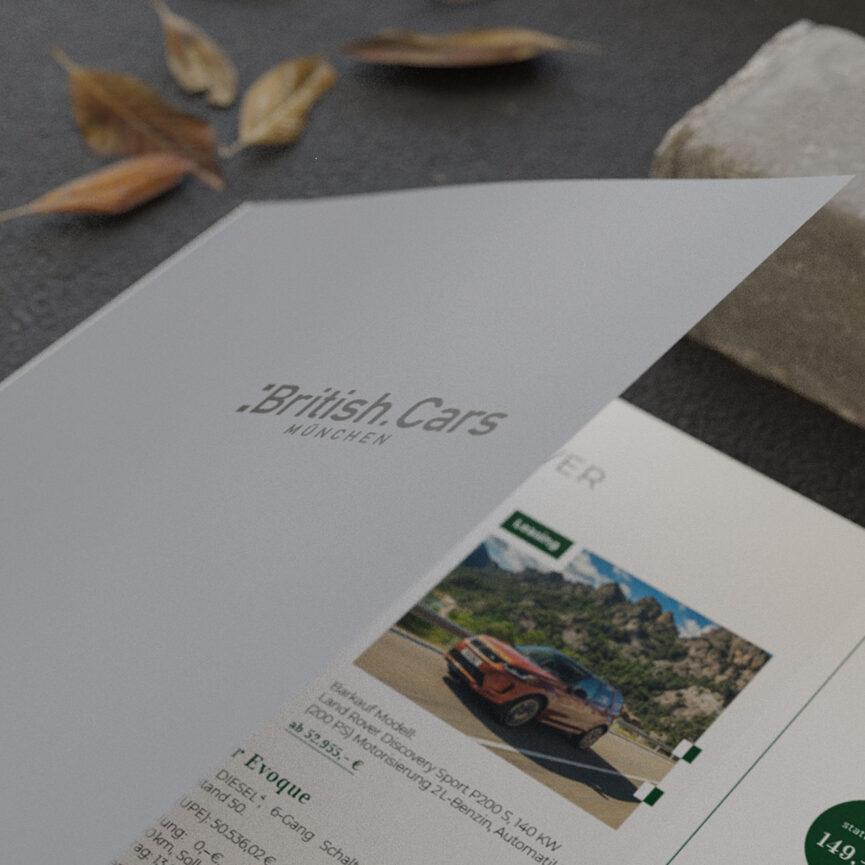 Coveransicht eines Folders von British Cars