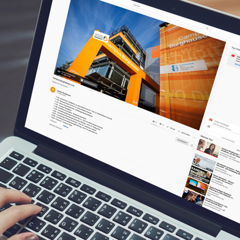 Campus Burghausen Virtueller Tag der offenen Tuer via YouTube Live