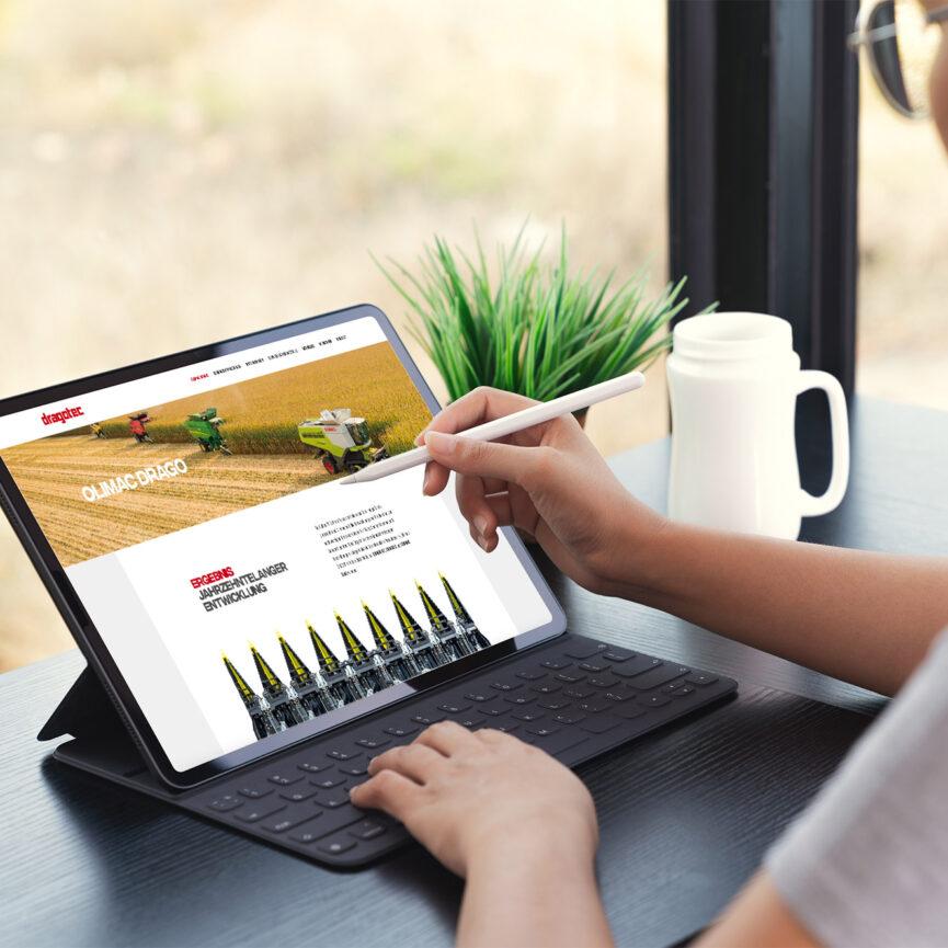 Dragotec Website Relaunch Tablet responsive