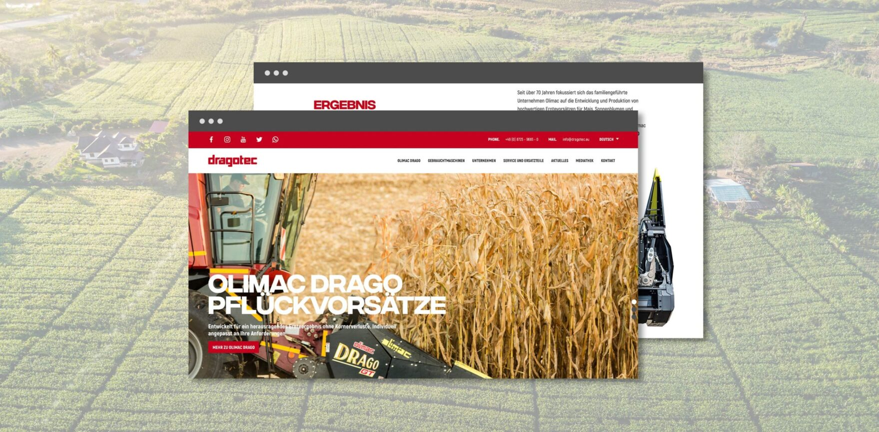 Dragotec Website Relaunch Startseite Headerbild
