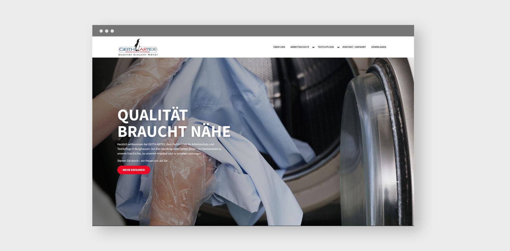 Keith Artex Webdesign Startseite