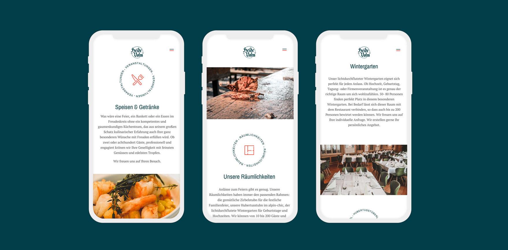 mobile Ansicht Heide Volm Website